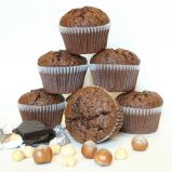 gluten free muffuns - Made with an extravagant amount of melted chocolate and chopped hazelnuts, these gluten free muffins are so delicious everyone enjoys them.
