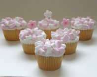 marshmallow muffins - Sponge muffins loaded with mini marshmallows.