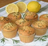 Rememberance muffins - 'Rosemary is for rememberance'.  These muffins are flavoured with lemon and rosemary.  They can also be made as fairy cake size.