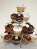 Mixed Wedding Cakes - A variety of different flavours for guests to choose from - lemon, chocolate or nutty fruit cakes.