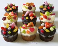 Sweetie Cakes - A mixture of sponge and chocolate cup cakes, loaded with sweeties.