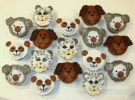 Mixed Animals - Our popular Chocolate Fudge Cake with various toppings to make animal faces.
