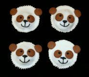 Panda Cakes - Our popular Chocolate Fudge Cake decorated as panda faces