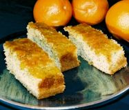 Orange and Poppy Seed Cake - Sponge cake with a sprinkling of poppy seeds and flavoured with fresh orange zest, and soaked in a syrup made with fresh orange juice.