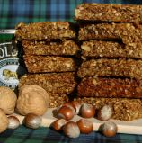 Hazel and Walnut Flapjacks - Our own Flapjack recipe is made with Scotts oats, sticky golden syrup with both hazel and walnuts for flavour and crunch.