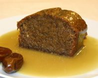 Sticky Toffee Pudding - A light date-rich sponge with a smooth creamy toffee sauce. This can be made in many different shapes and sizes, from small individual puddings to large cakes which can be sliced for serving.  Please specify if you like it with identifiable chunks of dates, or smooth and bits-free.