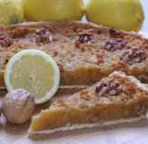 Treacle Tart - Treacle tart with walnuts for a bit of crunch and some lemon to take the edge off the sweetness.