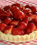 Strawberry Tart - Home made rich shortcrust pastry filled with fresh strawberries and glazed with just enough jam to sweeten it.