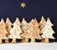 Xmas Tree Biscuits - Iced and decorated biscuits