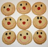 Smiley Face Biscuits - Biscuits made for Red Nose Day