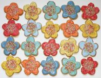 Funky Flower Biscuits -