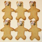 Pudsy Bear Biscuits - Teddy bear shaped biscuits decorated like Pudsy bear for Children in Need day.