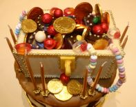 Treasure Chest - Treasure chest made of white chocolate & filled with sweeties for treasure.