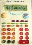 Calculator Cake - Calculator cake with sweetie buttons.